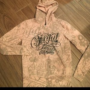 🌺Sinful Zip Up Hoodie!*! Size Small! *!